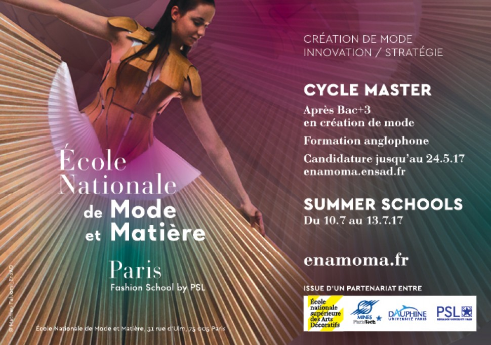 Apply Now To The Ecole Nationale De Mode Et Matiere Paris Fashion School By Psl French Culture